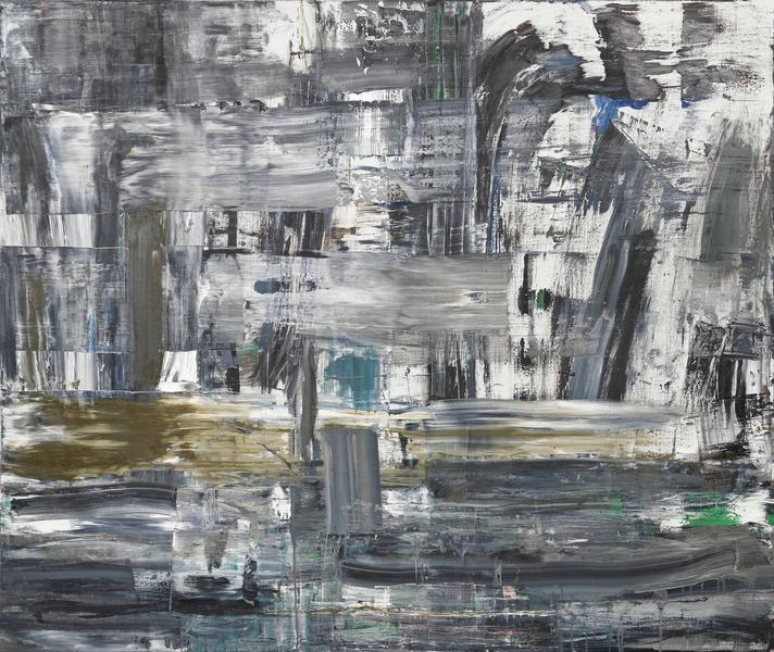 Louise Fishman 	SVEN JESPER  2015 	Oil on linen 	74 x 88 inches 	188 x 223.5 centimeters