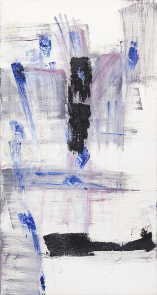 Louise Fishman 	NĀMARŪPA  2014 	Oil on linen 	63 3/4 x 34 inches 	161.9 x 86.4 centimeters