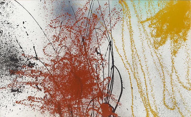 Hans Hartung (1904 - 1989) T1989-A7 1989 Acrylic on canvas 72 3/4 x 118 1/8 inches 185 x 300 centimeters
