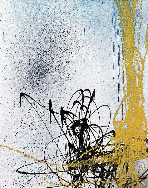 Hans Hartung (1904 - 1989) T1989-A4 1989 Acrylic on canvas 71 x 56 inches 180 x 142 centimeters