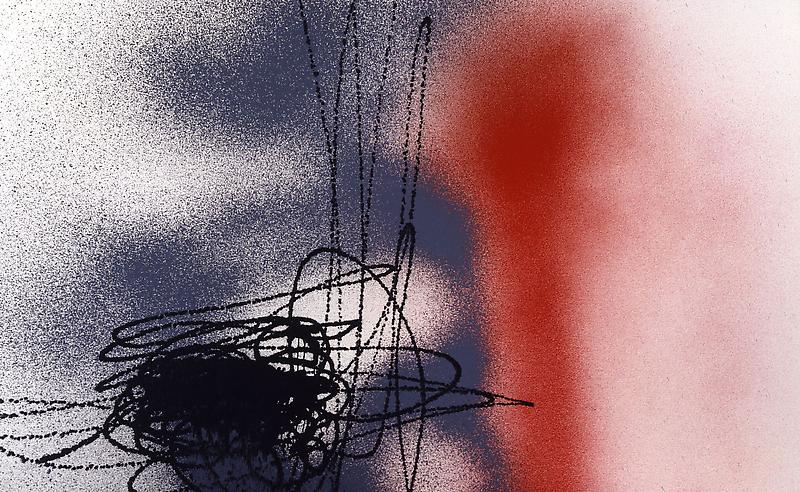 Hans Hartung (1904 - 1989) T1989-K46 1989 Acrylic on canvas 60 1/2 x 98 1/2 inches 154 x 250 centimeters