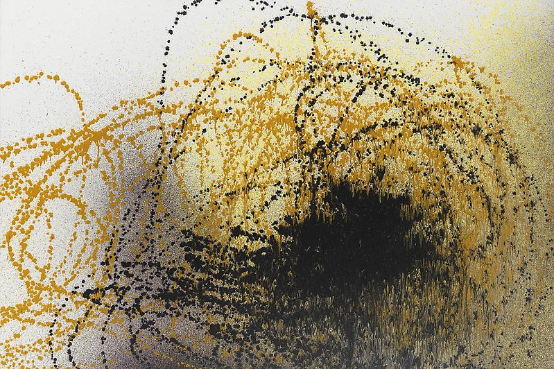 Hans Hartung (1904 - 1989) T1989-R29 1989 Acrylic on canvas 51 1/8 x 76 3/4 inches 130 x 195 centimeters