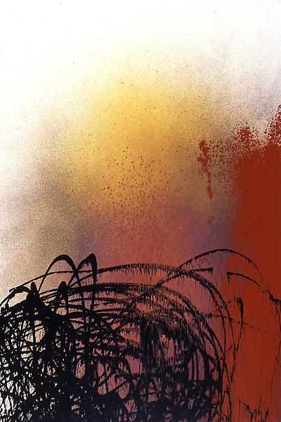 Hans Hartung (1904 - 1989) T1989-L14 1989 Acrylic on canvas 76 3/4 x 51 1/4 inches 195 x 130 centimeters