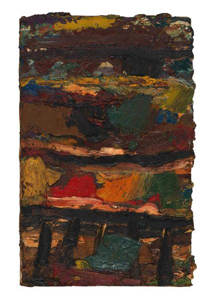 Al Held (1928 - 2005) UNTITLED 1954 Oil on canvas 28 x 18 inches 71.1 x 45.7 centimeters CR# He.28660