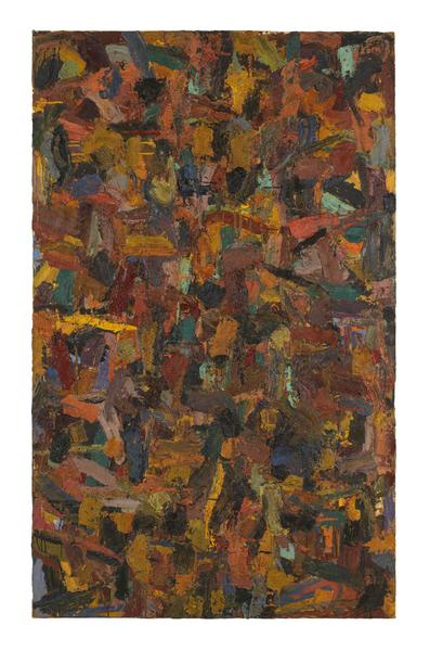 Al Held (1928 - 2005) UNTITLED 1954 Oil on canvas 95 1/2 x 59 inches 242.6 x 149.9 centimeters CR# He.33023