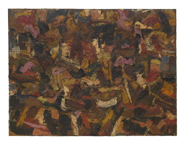 Al Held (1928 - 2005) UNTITLED 1955 Oil on canvas 72 x 96 inches 182.9 x 243.8 centimeters CR# He.33032