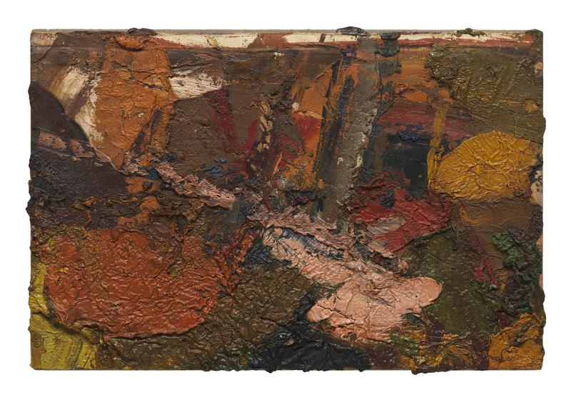Al Held (1928 - 2005) UNTITLED 1955 Oil on canvas 16 1/2 x 24 1/2 inches 41.9 x 62.2 centimeters CR# He.33033