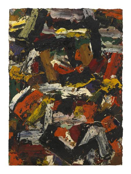Al Held (1928 - 2005) UNTITLED Circa 1958 Oil on canvas 67 x 49 inches 170.2 x 124.5 centimeters CR# He.33036
