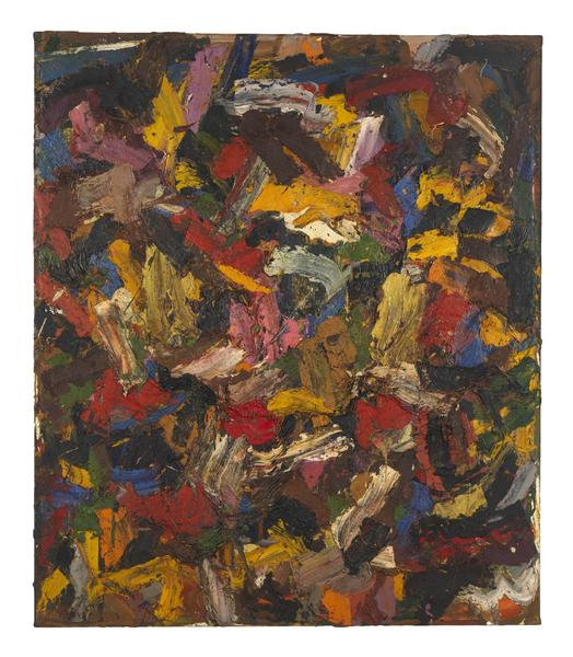 Al Held (1928 - 2005) UNTITLED 1956 Oil on canvas 83 1/4 x 71 1/4 inches 211.5 x 181 centimeters CR# He.33037