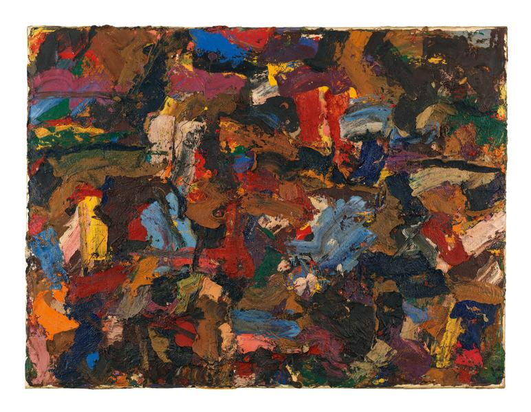 Al Held (1928 - 2005) UNTITLED 1956 Oil on canvas 60 x 78 inches 152.4 x 198.1 centimeters CR# He.33039