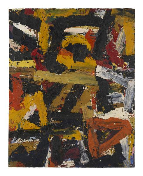 Al Held (1928 - 2005) UNTITLED 1959 Oil on canvas 90 1/4 x 72 1/2 inches 229.2 x 184.2 centimeters CR# He.33040