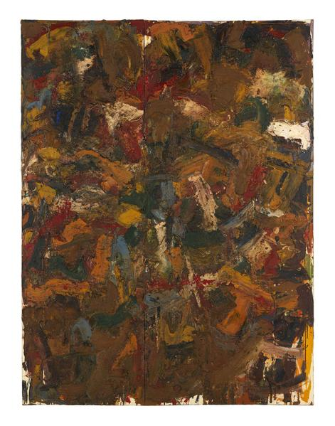 Al Held (1928 - 2005) UNTITLED #60 1954 Oil on canvas 96 x 72 inches 243.8 x 182.9 centimeters CR# He.37542