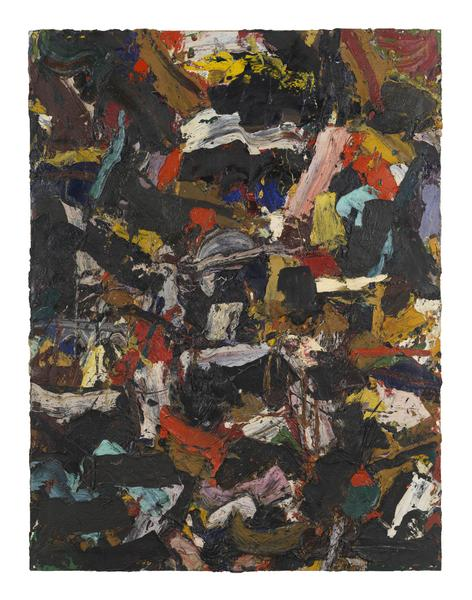 Al Held (1928 - 2005) UNTITLED 1957 Oil on canvas 74 x 56 inches 188 x 142.2 centimeters CR# He.37545
