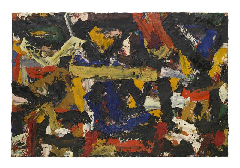 Al Held (1928 - 2005) UNTITLED 1958 Oil on canvas 72 x 108 inches 182.9 x 274.3 centimeters CR# He.37546