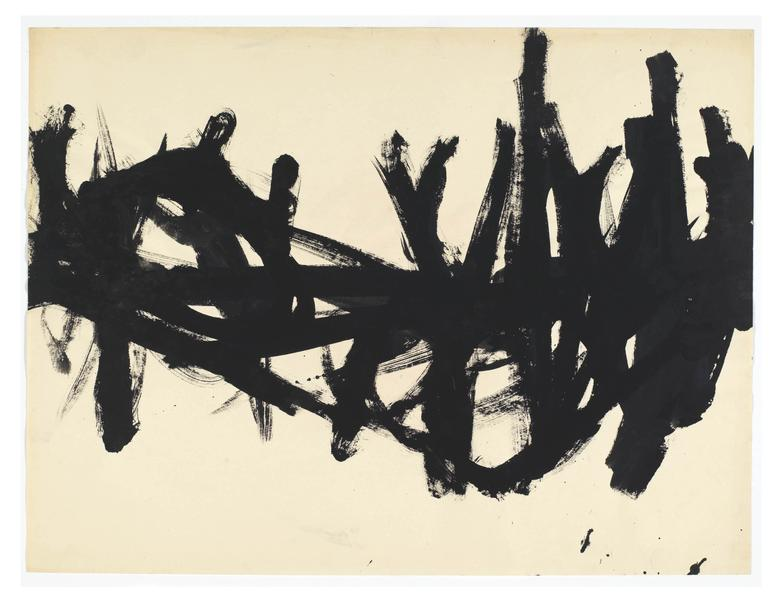 Al Held (1928 - 2005) AF-43 1953 Ink on paper 18 x 24 inches 45.7 x 61 centimeters CR# He.37976