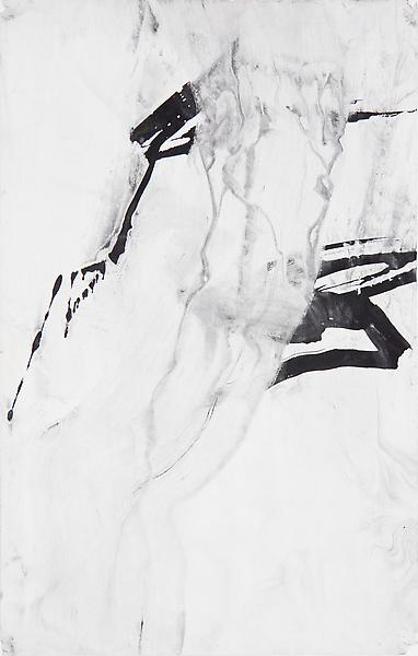 Bill Jensen NOTES FROM THE LOGGIA XXI 2005-06 Ink and charcoal on paper 17 1/4 x 10 7/8 inches 43.8 x 27.6 centimeters