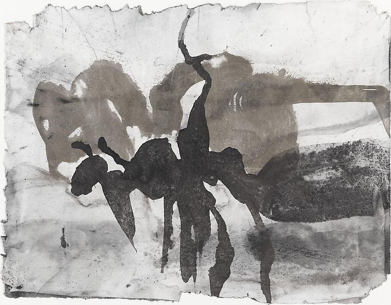 Bill Jensen PASSARE DA BERNARDO XXXVII 2009 Ink and charcoal on paper 9 1/4 x 11 3/4 inches 23.5 x 29.8 centimeters CR# JE.19508