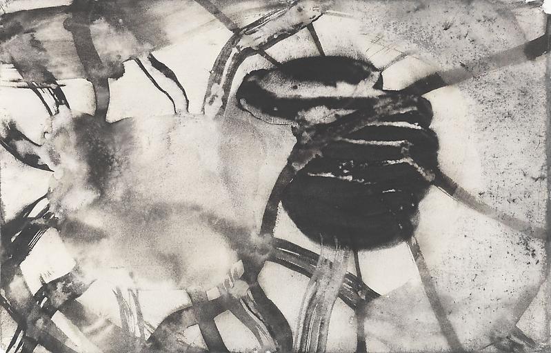 Bill Jensen PASSARE DA BERNARDO XL 2009 Ink and charcoal on paper 11 x 17 inches 27.9 x 43.2 centimeters