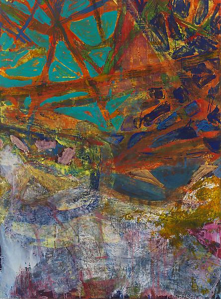 Bill Jensen OCCURRENCE APPEARING OF ITSELF 2006-09 Oil on linen 54 x 40 inches 137.2 x 101.6 centimeters