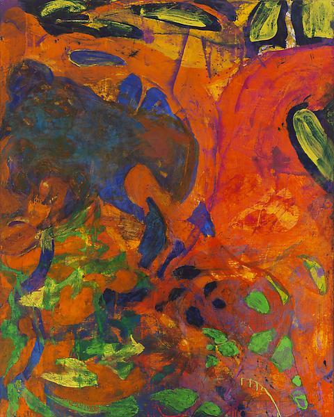 Bill Jensen GRIOT 2006 Oil on linen 50 x 40 inches 127 x 101.6 centimeters