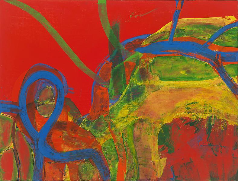 Bill Jensen GIUNGLE 2009 Oil on linen 28 x 37 inches 71.1 x 94 centimeters