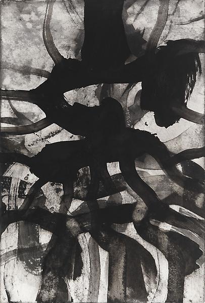 Bill Jensen PASSARE DA BERNARDO XXXVI 2009 Ink on antique paper 22 x 14 3/4 inches 55.9 x 37.5 centimeters