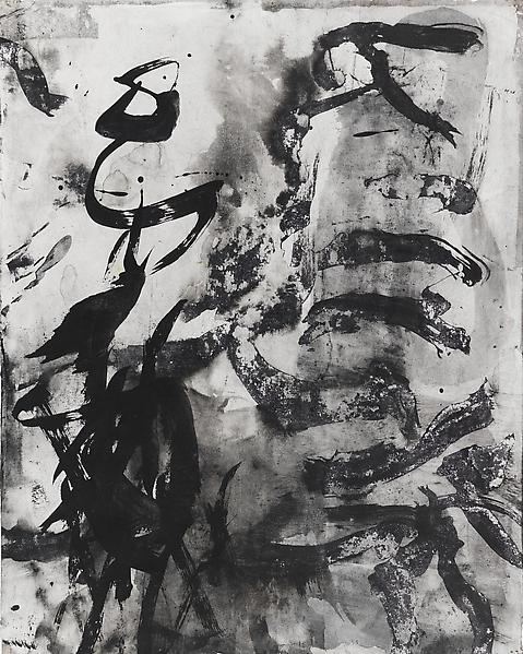 Bill Jensen PASSARE DA BERNARDO XXXV 2009 Ink on antique paper 17 1/4 x 13 5/8 inches 43.8 x 34.6 centimeters