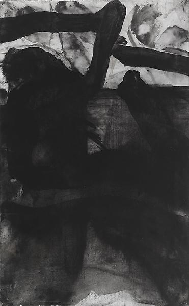 Bill Jensen PASSARE DA BERNARDO XXXIII 2009 Ink and white tempera on antique paper 17 x 10 1/2 inches 43.2 x 26.7 centimeters