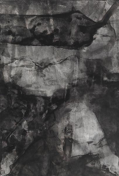 Bill Jensen PASSARE DA BERNARDO XXIV 2009 Ink on antique paper 17 x 11 1/2 inches 43.2 x 29.2 centimeters