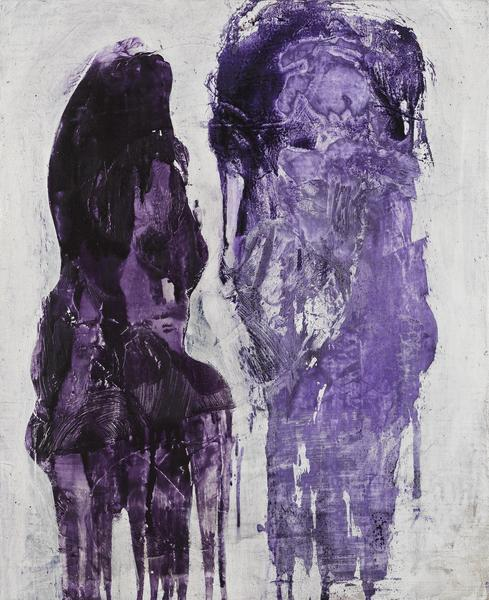 Bill Jensen 	LUOHAN (VIOLET II)  2013-14 	Oil on linen 	28 x 23 inches 	71.1 x 58.4 centimeters
