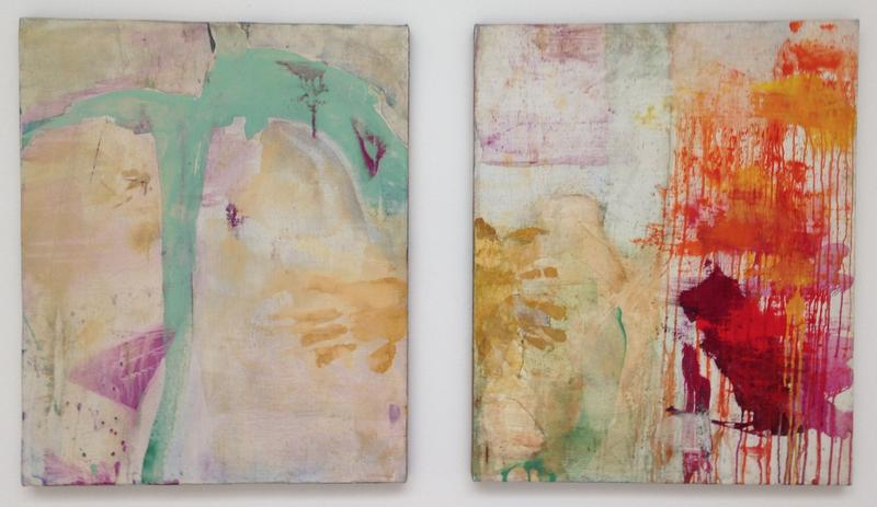 Bill Jensen 	ANGELICO, ANGELICO  2012-15 	Oil on linen diptych 	28 x 51 inches overall 	71.1 x 129.5 centimeters overall