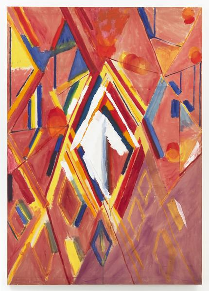 Kimber Smith (1922 - 1981)  KUP'S WHITE DIAMOND 1970  Acrylic on canvas  94 x 65 1/4 inches  238.8 x 165.7 centimeters