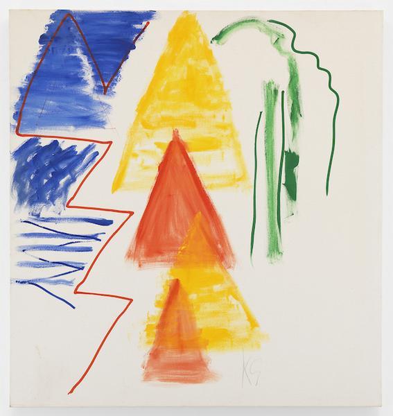 Kimber Smith (1922 - 1981)  TILT 1980  Acrylic on canvas  68 x 64 inches  172.7 x 162.6 centimeters