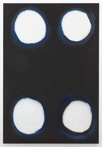 Kimber Smith (1922 - 1981)  DAY CIRCLE BLUE 1967  Acrylic on canvas  96 x 66 inches  243.8 x 167.6 centimeters