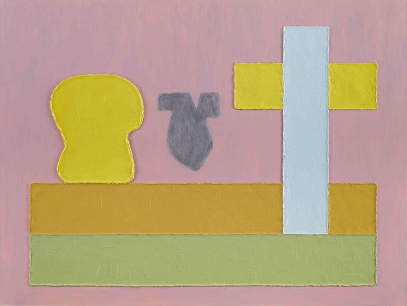 Jonathan Lasker 	THE REMNANT OF SPIRIT  2015 	Oil on linen 	75 x 100 inches 	190.5 x 254 centimeters