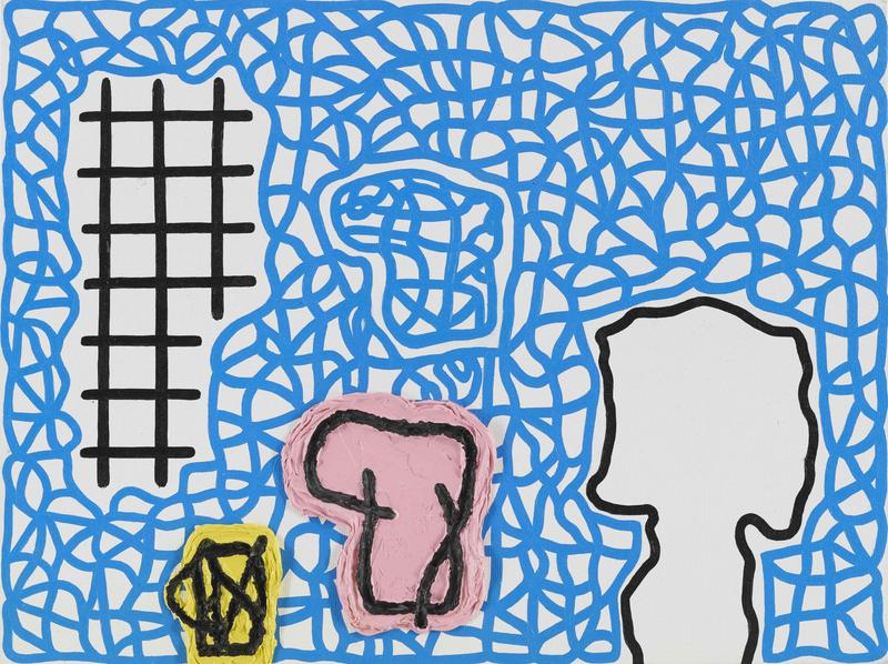 Jonathan Lasker 	UNIVERSAL SUCCESS  2014 	Oil on canvasboard 	12 x 16 inches 	30.5 x 40.6 centimeters