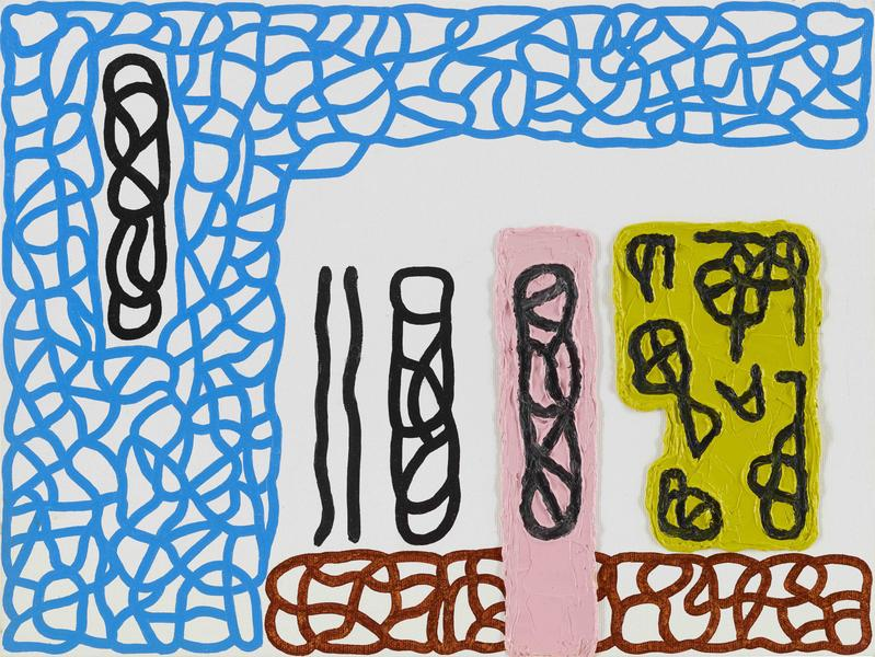 Jonathan Lasker 	THE SPIRIT LIFE OF THINGS  2015 	Oil on canvasboard 	12 x 16 inches 	30.5 x 40.6 centimeters