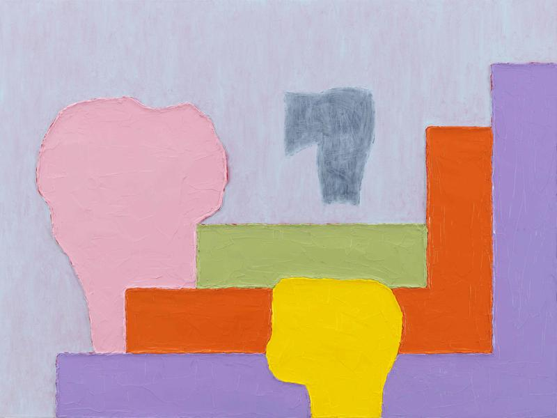Jonathan Lasker 	DEMOCRATIC BEAUTY  2015 	Oil on linen 	30 x 40 inches 	76.2 x 101.6 centimeters