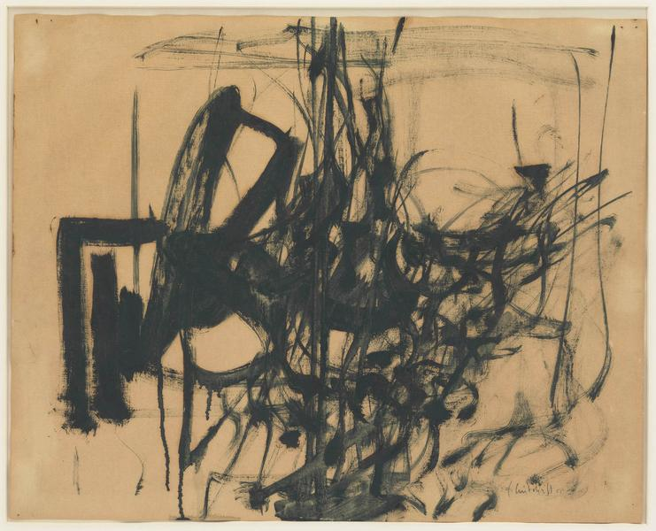 Joan Mitchell (1925 - 1992) UNTITLED 1955 Oil on paper 16 x 20 inches 40.6 x 50.8 centimeters