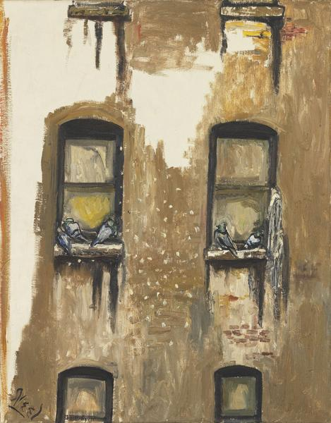 Alice Neel (1900 - 1984) PIGEONS 1959 Oil on canvas 34 x 27 inches 86.4 x 68.6 centimeters
