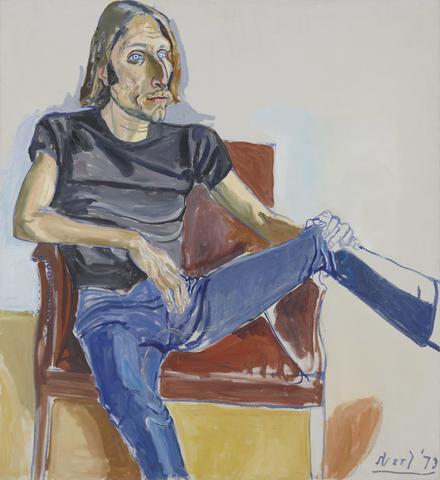 Alice Neel (1900 - 1984),David Sokola, 1973, oil on canvas,48 x 44 x 3/4 in