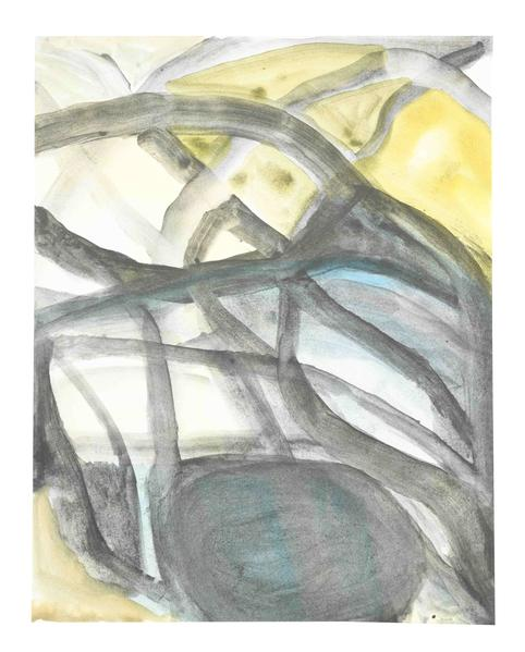 Jack Pierson UNTITLED 2015 Watercolor on paper mounted on linen 14 x 11 inches 35.6 x 27.9 centimeters PI.34936