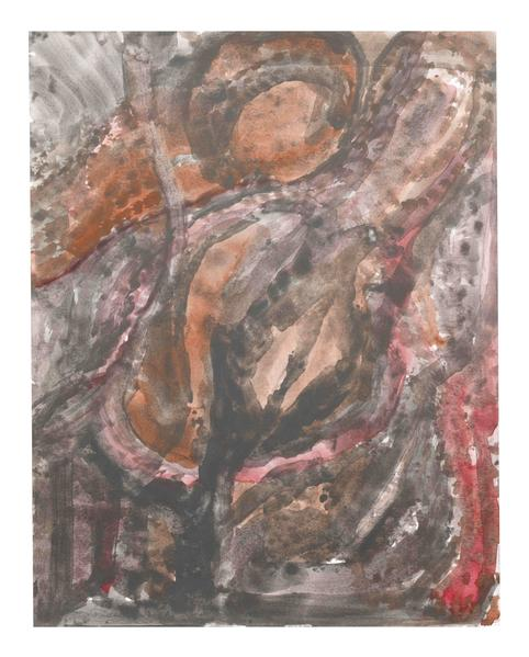 Jack Pierson UNTITLED 2014 Watercolor on paper mounted on linen 14 x 11 inches 35.6 x 27.9 centimeters PI.35089