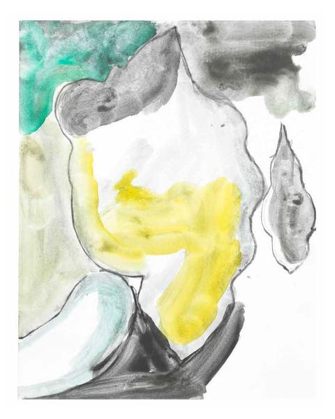 Jack Pierson UNTITLED 2015 Watercolor and graphite on paper mounted on linen 14 x 11 inches 35.6 x 27.9 centimeters PI.35096
