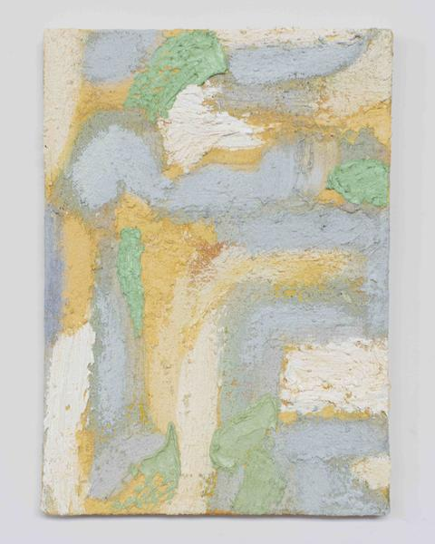 Jack Pierson DELUGES OF LETHE 2015 Oil, paint, sand and wax on canvas 14 x 10 inches 35.6 x 25.4 centimeters