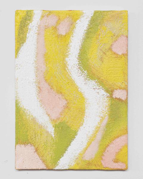 Jack Pierson ARYA VIHARA 2015 Oil, paint, sand and wax on canvas 14 x 10 inches 35.6 x 25.4 centimeters