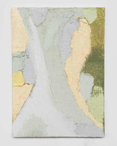 Jack Pierson THE WEST WIND 2015 Oil, paint, sand and wax on canvas 14 x 10 inches 35.6 x 25.4 centimeters