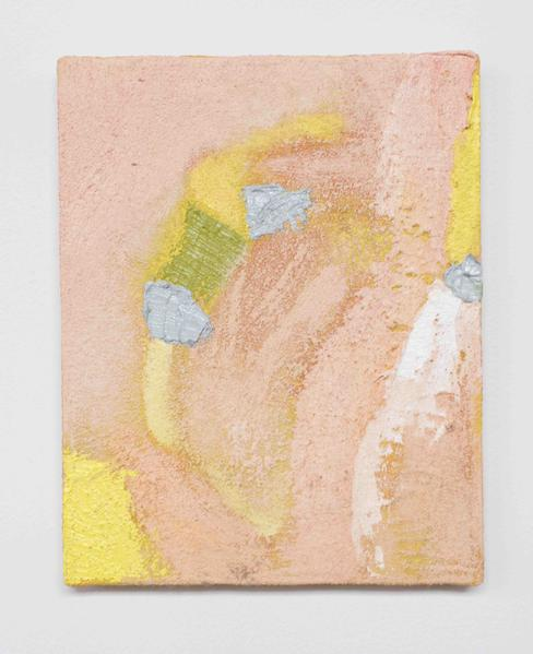 Jack Pierson REDFISH PASS 2015 Oil, paint, sand and wax on canvas 10 x 8 inches 25.4 x 20.3 centimeters