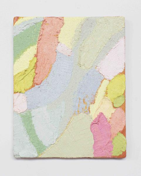 Jack Pierson HE SWEARS 2015 Oil, paint, sand and wax on canvas 10 x 8 inches 25.4 x 20.3 centimeters