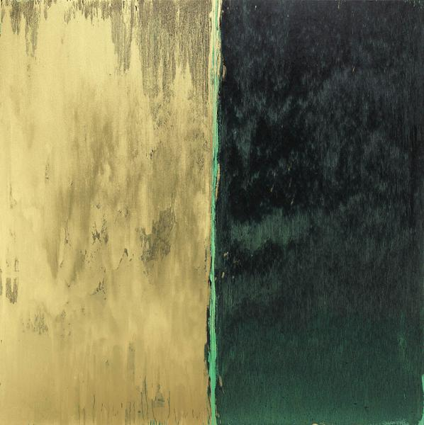 Pat Steir 	OPACITY VELOCITY  2014 	Oil on canvas 	84 x 84 inches 	213.4 x 213.4 centimeters